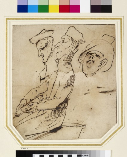 Caricature Portrait of two Prelates