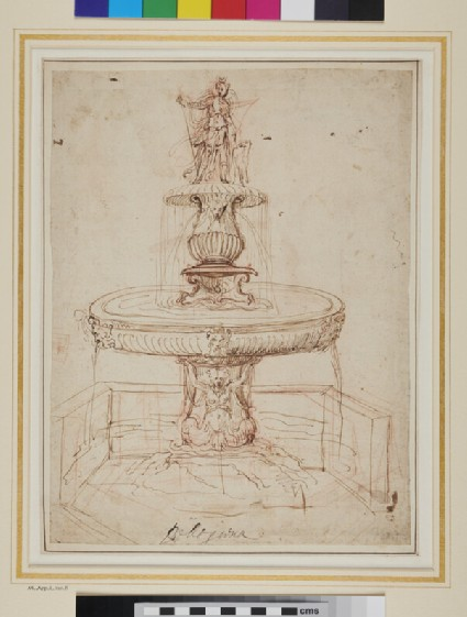 Recto: Design for a Fountain