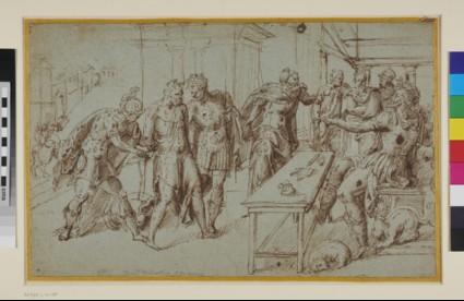 Prisoner before a Proconsul: unidentified Scene from Roman History