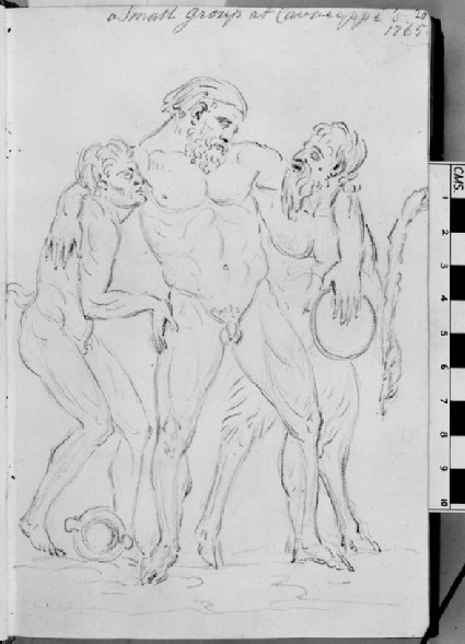 A group of drunken Silenus supported by satyrs, from the workshop of Cavaceppi