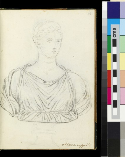A female bust, from the workshop of  Bartolomeo Cavaceppi