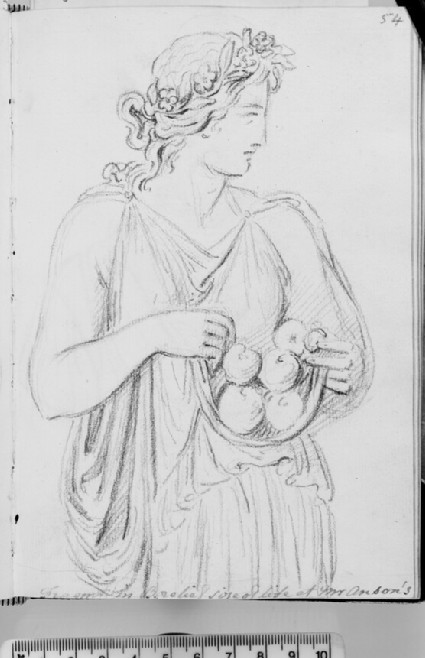 A woman bringing fruits, probably Pomona