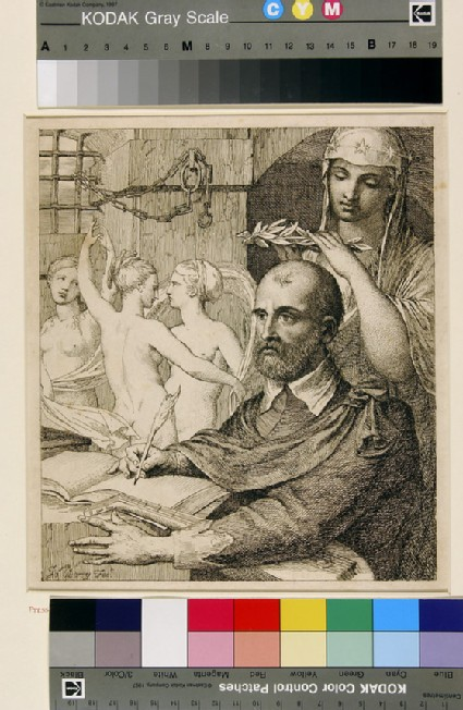 Tasso in Prison, crowned by Urania and attended by the Three Graces