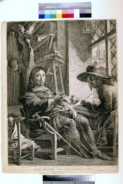Milton dictating to Ellwood the Quaker