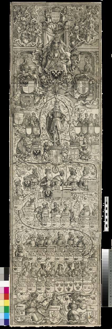 The genealogical chart of the Emperor Maximilian I