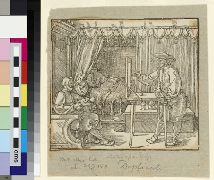 The draughtsman with the seated man