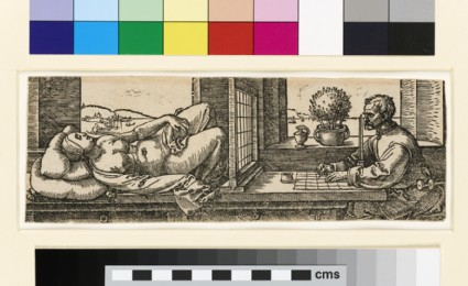 The draughtsman with the reclining nude