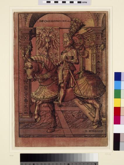 Emperor Maximilian I, armed on horseback