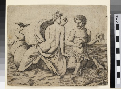 A Triton carrying a Nereid
