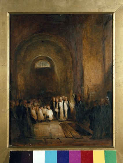 Turner's Burial in the Crypt of St Paul's