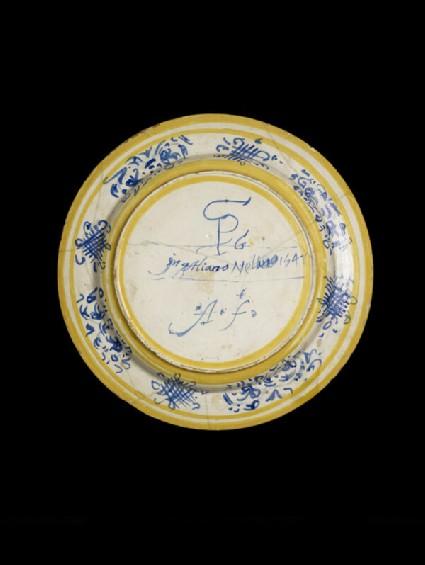 Plate, the heroism of Mucius Scaevola