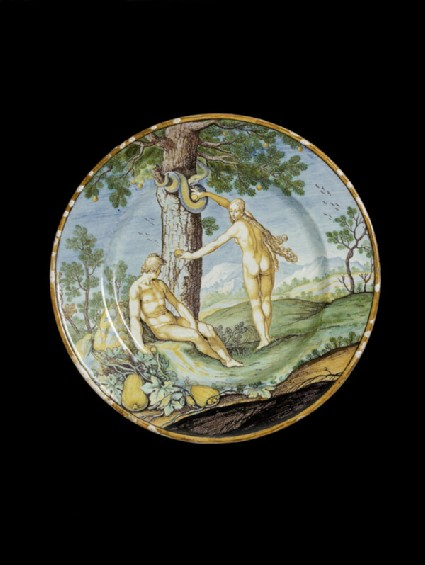 Plate with The Temptation of Adam