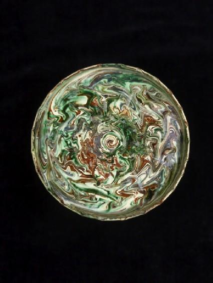 Marbled slipware dish