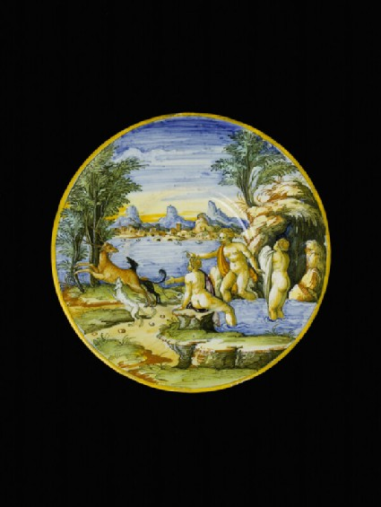 Plate with Diana and Actaeon
