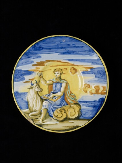 Plate with St Luke