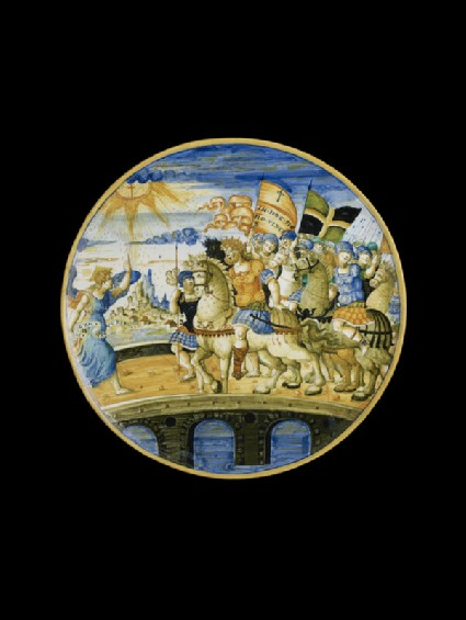 Plate with The Vision of Constantine