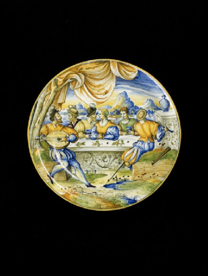 Bowl with banqueting scene