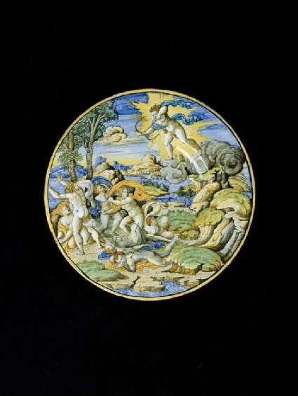 Plate, the death of the children of Niobe