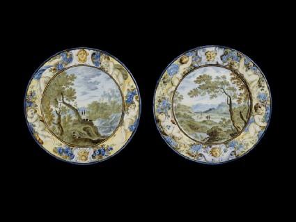 Plate, landscape