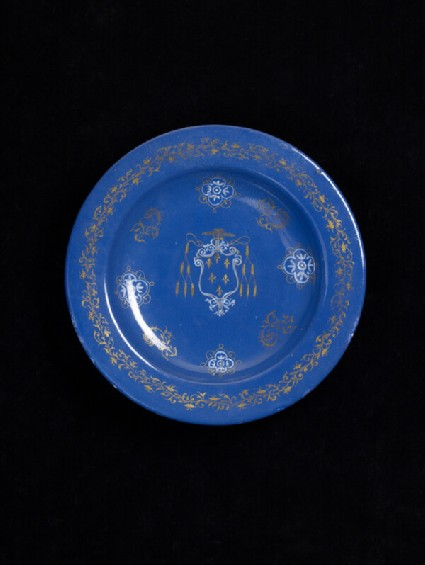 Plate with the arms of Cardinal Farnese