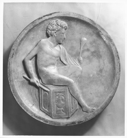 Roundel with a seated boy