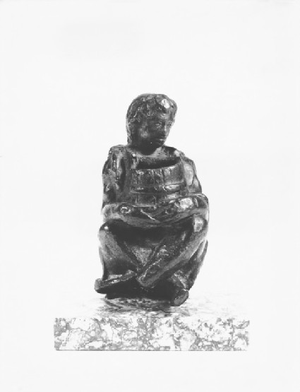 Inkstand with shepherd boy holding a tub