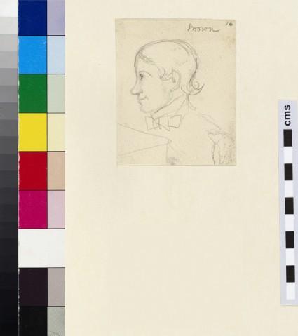 Profile Sketch of Thomas Combe's Servant, Brown