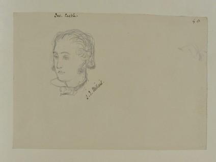 Portrait sketch of James Castle