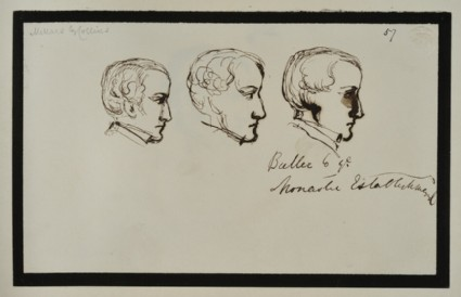 Three Sketches of a Man in Profile