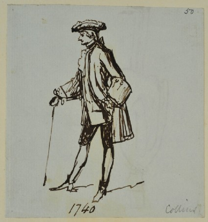 Recto: A Gentleman in Finery '1740', by Collins 