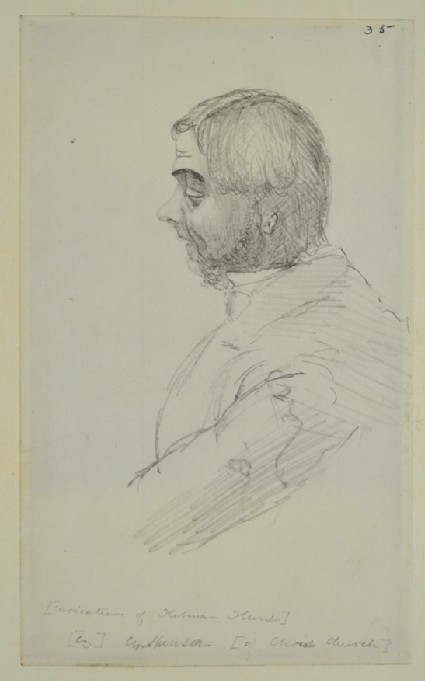 Caricature of Holman Hunt