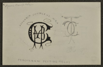 Sheet of monograms