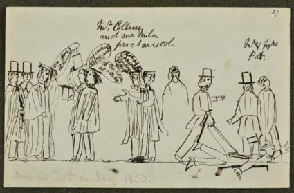 Comic Sketch: Mr Collins and Mr Millais Proctorised