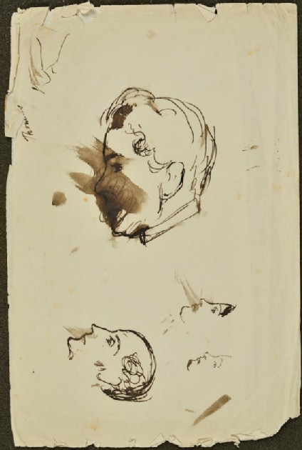 Sketches of Heads in Profile