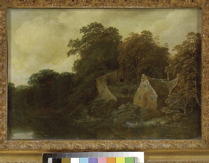 River Scene with a Cottage and Boat