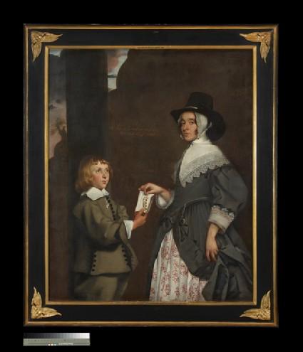 Hester Tradescant and her stepson, John