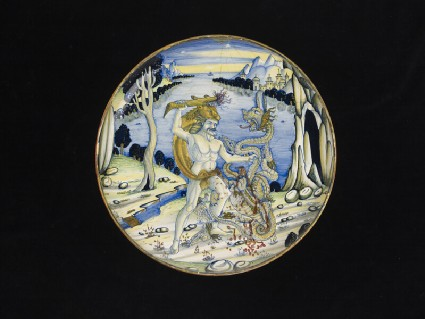 Bowl with Hercules and the Hydra