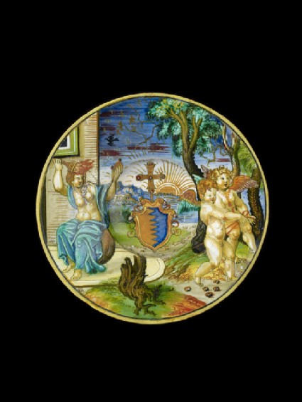 Plate, an allegory of Prudence