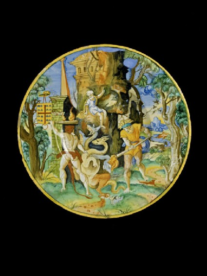 Plate with Hercules and the Hydra
