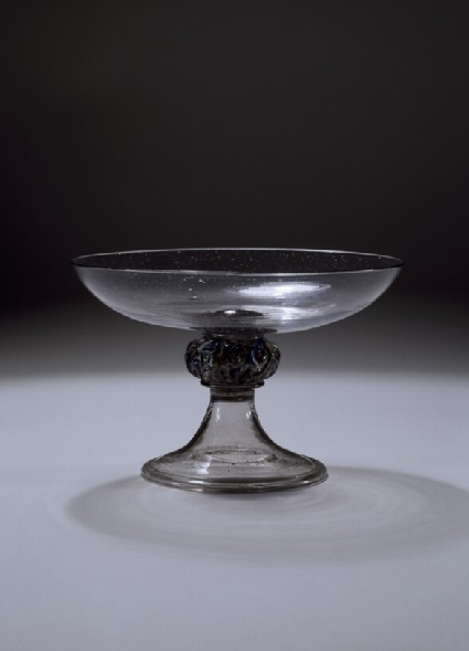Footed dish with a millefiori knop