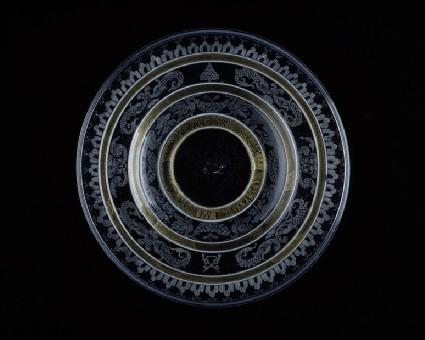 Diamond-engraved plate