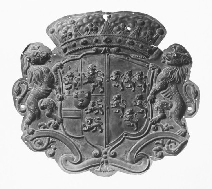 Plaque with the arms of Frederick Nassau de Zuylestein, Third Earl of Rochford impaling Savage for his wife Betsy Savage
