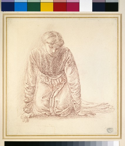 Kneeling figure of a woman: possibly a study for 'The Mirror of Venus'