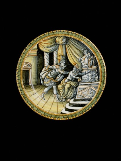 Plate with The death of Priam