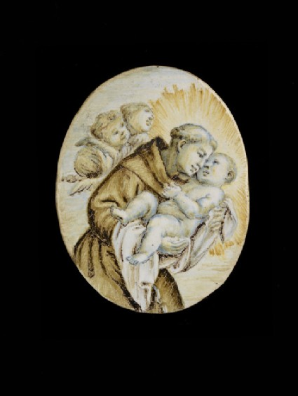 Plaque, St Anthony of Padua and the Christ Child