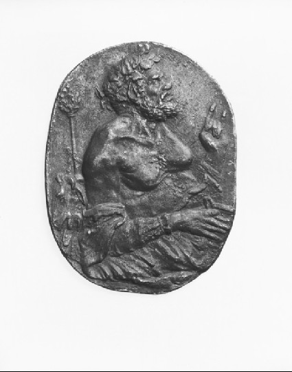 Satyr with cup and thyrsus