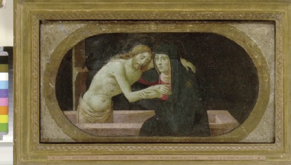 Christ in the Tomb supported by the Virgin