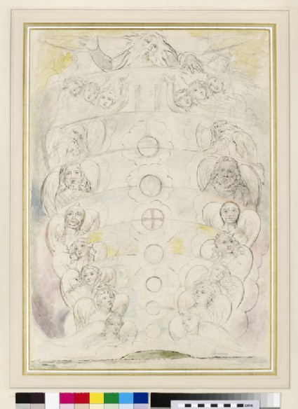 The Deity, from whom proceed the Nine Spheres (illustration to the 'Divine Comedy', Paradiso XXVIII)