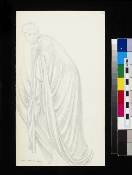 Recto: study for the figure of Mary Magdalene in 'The Morning of the Resurrection' 