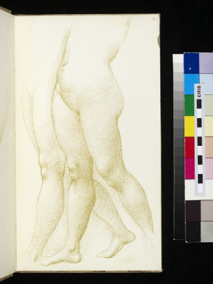 Sketch of two pairs of legs seen in three quarters